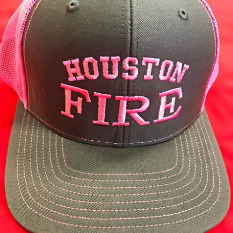 Neon Pink and Charcoal Richardson Trucker Resize